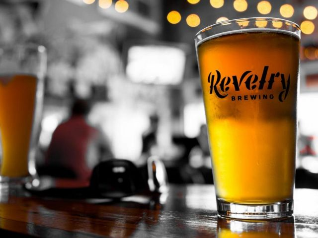 beer in revelry beer cup